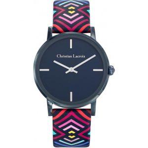 Christian Lacroix 8010302 - Montre pour femme avec bracelet en cuir