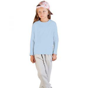 Promodoro T-shirt Manches Longue Enfants, 140, bleu clair