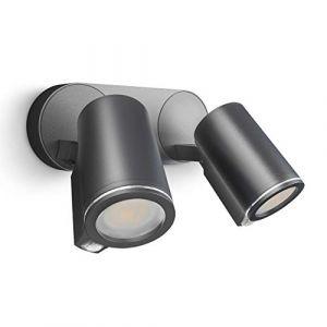 Steinel Projecteur d'extérieur à capteur Spot Duo Sensor Connect Noir