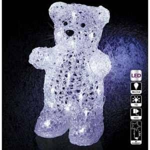Pegane Décoration extérieur de noël forme ours lumineux 30 LED - Dim : L.20 x l.16 x H.31,50 cm -