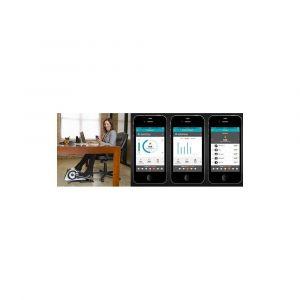 Cubii Elliptique sous bureau, Bluetooth activé, synchronisation avec FitBit et HealthKit, résistance réglable, assemblage facile