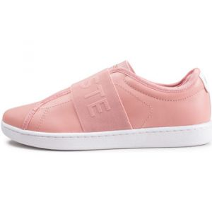 a86eeda7f86 Lacoste Carnaby Evo Slip Rose Baskets Tennis Femme