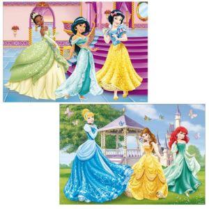 Ravensburger Puzzle 2 x 12 pièces - Disney Princesse : Les princesses dans le château