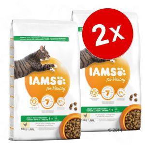 IAMS Lot pour chat - Adult Indoor poulet (2 x 10 kg)