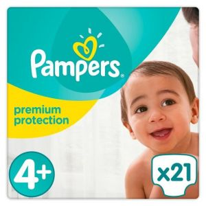 Pampers Premium Protection taille 4+ (Maxi+) 9-18 kg - 21 couches