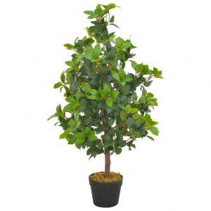 VidaXL Plante artificielle avec pot Laurier Vert 90 cm