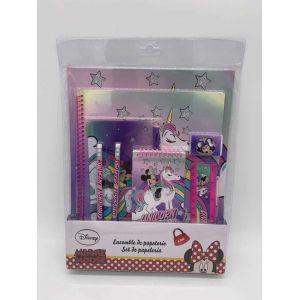Set de papeterie 9 pcs Minnie Mouse