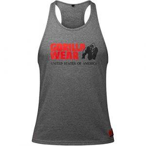 Gorilla wear Gym Shirt Homme - Débardeur Classique Stringer - S à 3XL Bodybuilding Muscle Fitness Muscle Shirt Gris XXL