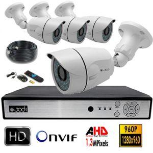 Jod-1 Kit vidéosurveillance AHD 960P 4 caméras 1,3MP