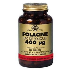 Solgar Vitamine B9 400mg - 100 comprimés