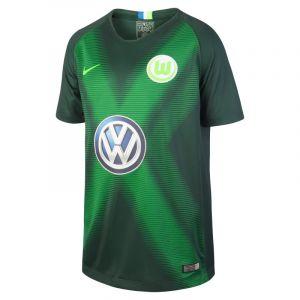 Nike Maillot de football 2018/19 VfL Wolfsburg Stadium Home pour Enfant plus âgé - Vert - Taille S