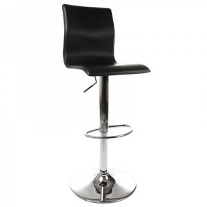 Kokoon Design Tabouret de bar noir réglable SOHO