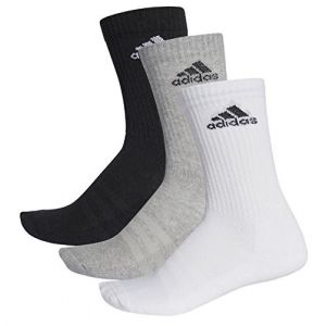 Adidas Chaussettes 3 Stripes Performance Crew Half Cushioned 3 Pair - Black / Grey / White - Taille EU 51-54