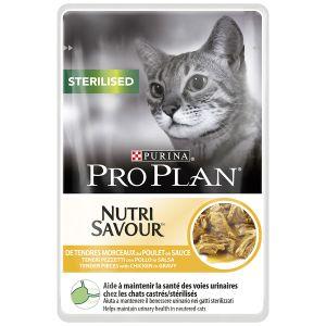 Purina Nutrisavour Sterilised Poulet - 10 sachets de 85 g