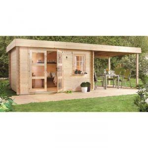 Luoman lounge v2 abri de jardin en bois 8 15 m 28 mm comparer avec - Castorama abris de jardin luoman ...