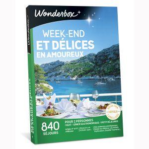 Wonderbox Week-end et délices en amoureux - Coffret cadeau 840 séjours
