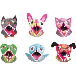 Janod 6 marionnettes Origami : Animaux