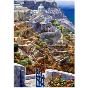 Wentworth Puzzle en Bois - Above Santorini