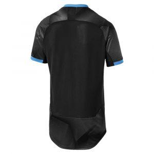 Puma Olympique de Marseille Maillot Training Graphic with Sponsor Logo Homme Black-Bleu Azur, FR : XL (Taille Fabricant : XL)