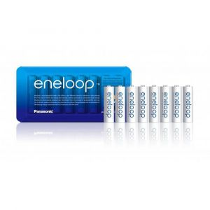 Panasonic 1x8 Eneloop Mignon AA 1900 mAh Storage Case