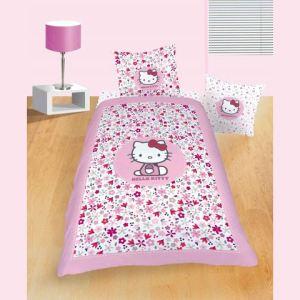 Hello Kitty Flora - Housse de couette et taie (140 x 200 cm)
