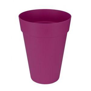 Loft URBAN Pot de fleur - Haut - Ø28 cm - Cerise - Résistant aux chocs et au gel - Convient pour toutes les saisons
