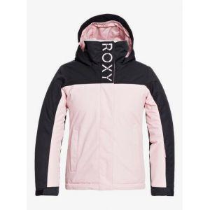 Roxy Galaxy-Veste de Snow pour Fille 8-16 Ski, Powder Pink, FR : S (Taille Fabricant : 8/S)