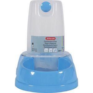 Zolux Distributeur d'eau antidérapant bleu pastel - 6,5 l
