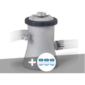 Intex Epurateur à cartouche 1,25 m³/h + 3 cartouches H
