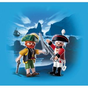 Playmobil 4127 - Duo Pirate et soldat anglais