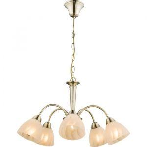 Globo Lighting Suspension 83x56x56 cm Bronze - Suspension couleur bronze - Verre opal - A:560 - H:830 - Ampoule non incluse 5xE14 60W 230V