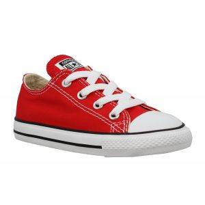 Converse Chuck Taylor All Star Ox, Sneakers Basses Mixte Enfant, Rouge Rot, 27 EU