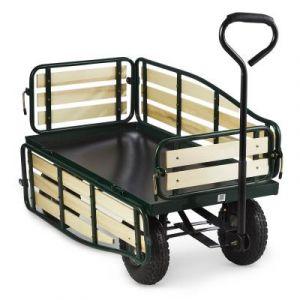 Waldbeck Ventura Chariot remorque de transport à main > 300 kg acier - noir
