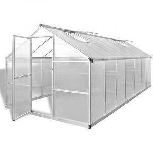 VidaXL Serre Aluminium renforcé 10,53 m²