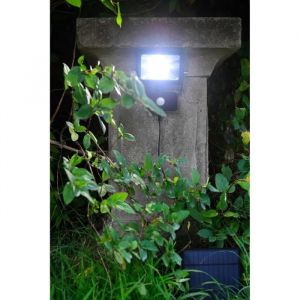 Blachère illumination Lampe solaire avec détecteur de mouvements - Blanc - L 15,9 x P 6 x H 16,5 cm