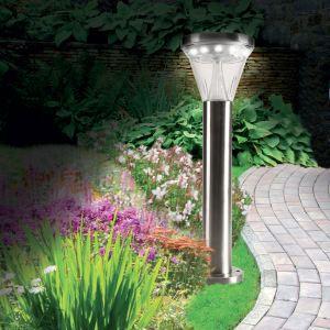 Ose Lampe solaire de jardin 13 LED avec fixation au sol ou au mur