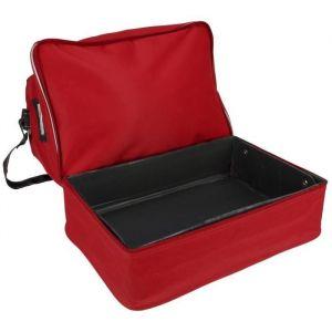 Avento Sac de sport - Rouge - Rouge - 100% polyester déperlant - Compartiment à chaussures - Renforcement PVC