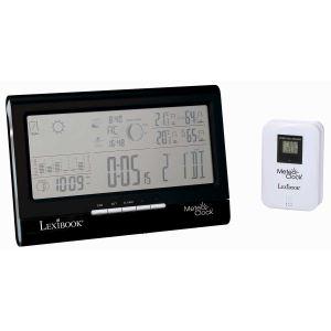 Lexibook MeteoClock Fullview (SM1770) - Station météo avec baromètre intégré pour température intérieure et extérieure