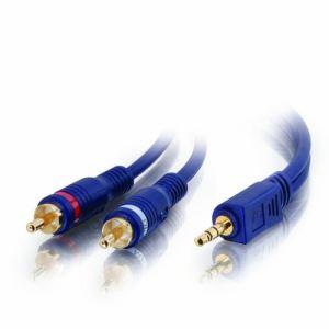 C2g 80278 - Câble Y Velocity Stéréo 3,5 mm M vers 2 RCA M 10 m