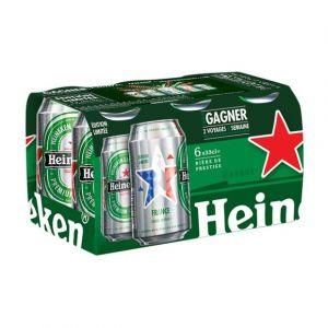 Heineken Bière blonde - Les 6 canettes de 33cl