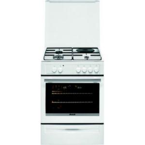 Brandt BCM6655W - Cuisinière mixte 3 foyers gaz avec four électrique