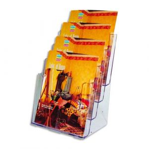 Deflecto Docuholder Porte-brochures vertical 4 compartiments