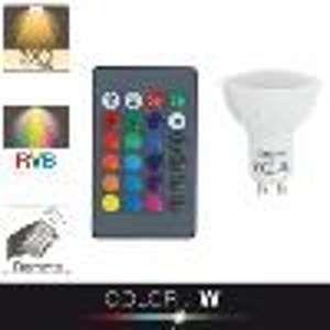 Xanlite Ampoule LED spot, culot GU10, 4,2W cons. (27W eq.), lumière blanc chaud ou lumière RVB