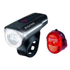 Sigma Sport Aura 60 USB/Nugget II - Kit éclairage vélo - rouge/noir Sets de lampes