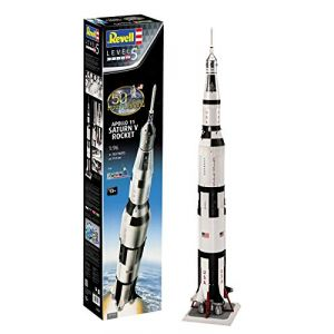 Revell Maquette Coffret Cadeau 50 Ans Apollo 11 fusée Saturne V 03704, 3704, Blanc et Noir