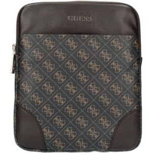 Guess Sac trotteur Manhattan monogrammé Marron