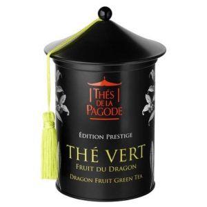 Thés de la pagode Thé Vert Fruit du Dragon - Edition Prestige - Boite de 100 grammes - Un thé gourmand et exotique
