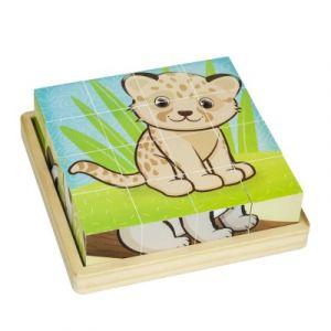 Okoia Puzzle 16 cubes Bébé Animaux