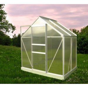 Chalet Jardin 901667 46 Serre de Jardin avec Al ini /Polycarbonate Transparent 190 x 120 x 200 cm