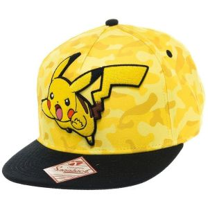 Image de Bioworld Casquette 'Pokémon' : Pikachu - snap back - jaune - Toutes plates-formes